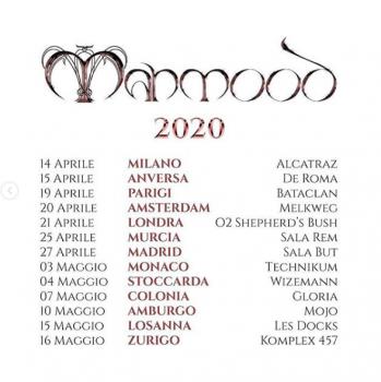 Mahmood date tour europeo 2020