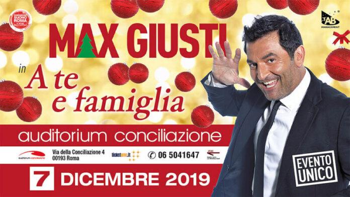 Max Giusti a teatro con A te e famiglia: uno spettacolo pre-natalizio