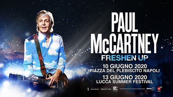 Paul McCartney locandina tour italiano 2020