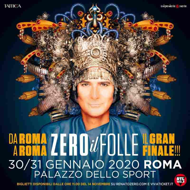 Renato Zero - Zero il folle in Tour - banner date finali Roma small