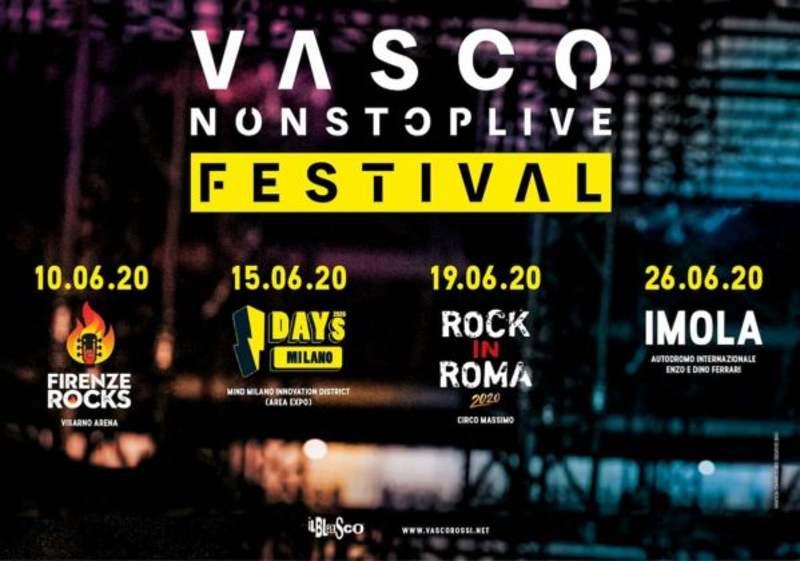 Vasco Rossi tour 2020 locandina