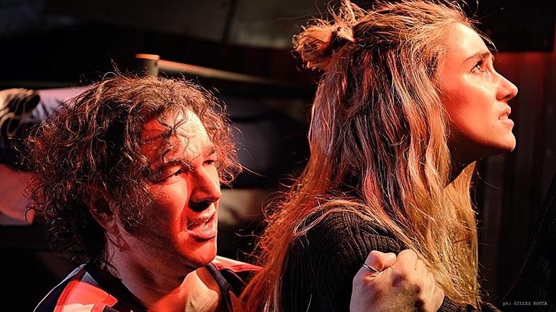 """Miriam Galanti accanto a Federico Rosati, protagonisti unici di """"After the dark"""" ©foto Gilles Rocca"""