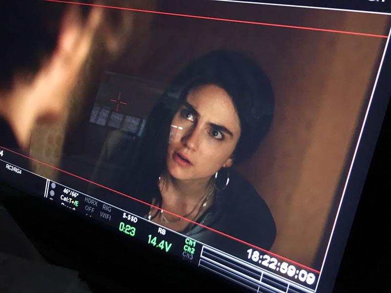 """Miriam Galanti nel backstage del film """"In the trap"""""""