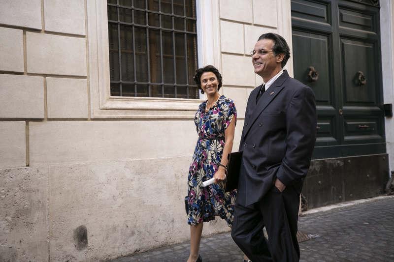 Storia di Nilde - Anna Foglietta (Nilde Iotti) e Francesco Colella (Palmiro Togliatti)