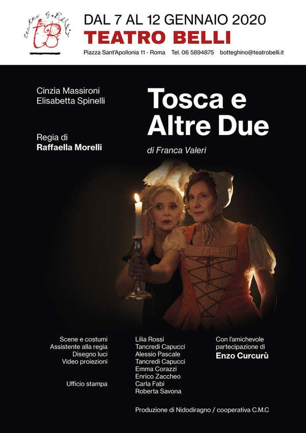 Tosca e altre due - locandina Teatro Belli