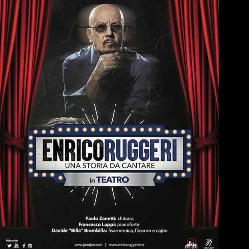 Enrico Ruggeri - locandina Una storia da cantare