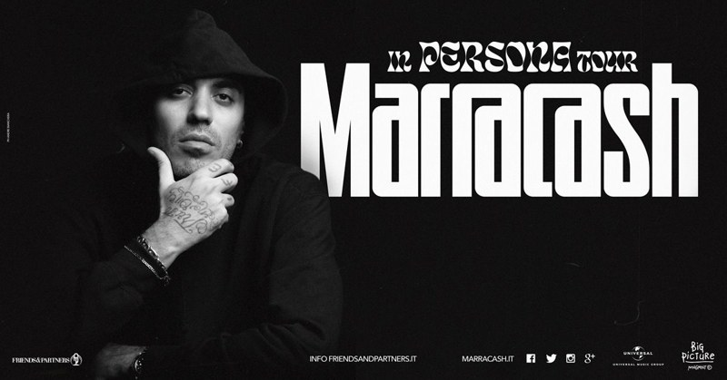 Marracash - locandina In persona tour