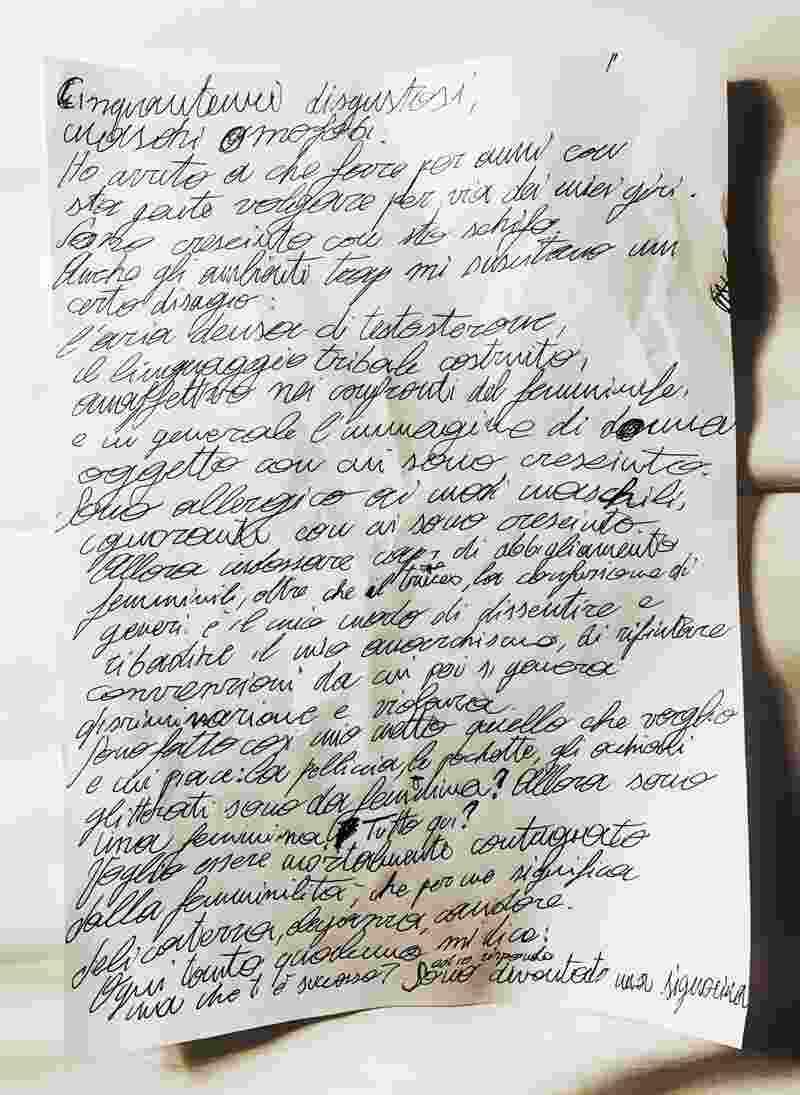 Achille Lauro - Manoscritto originale tratto dal libro Sono io Amleto