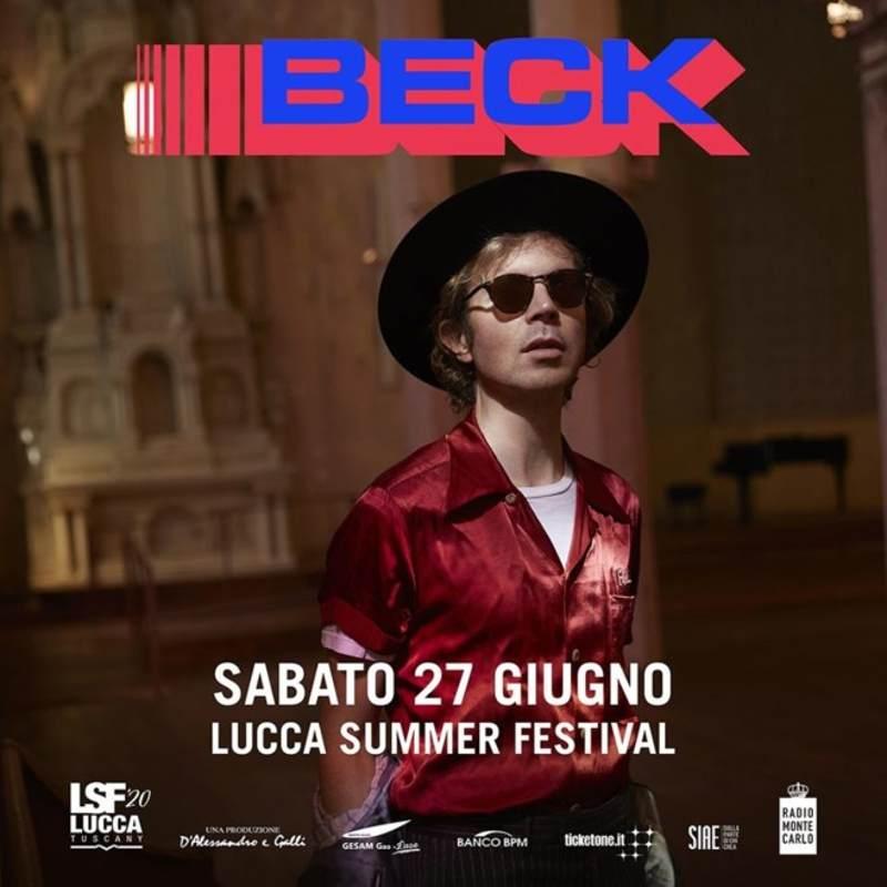 Beck - locandina Lucca Summer Festival 2020