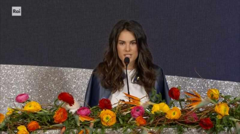 Sanremo 2020 - Francesca Sofia Novello in conferenza stampa quinta serata