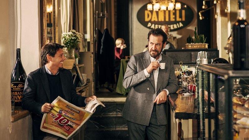Villetta con ospiti: Marco Giallini in una scena del film