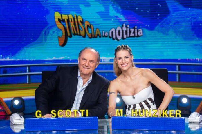 Michelle Hunziker e Gerry Scotti - Striscia la notizia
