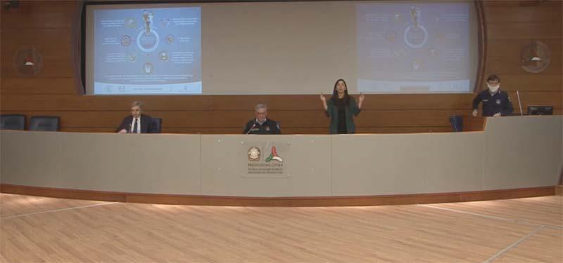 Conferenza stampa del 6 aprile con il capo Dipartimento Angelo Borrelli e il prof. Luca Richeldi primario del reparto di Pneumologia del Policlinico Gemelli di Roma
