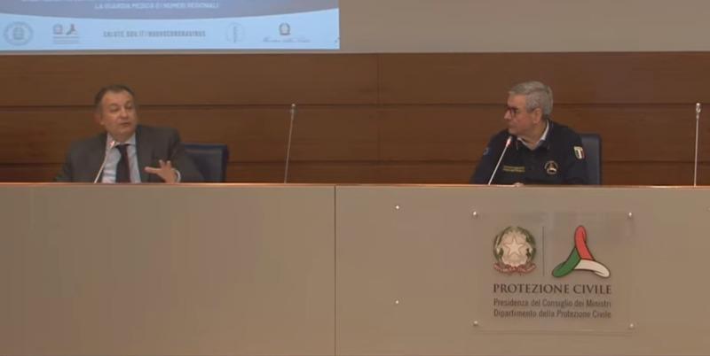 Coronavirus - Sergio Iavicoli e Angelo Borrelli - conferenza 2 aprile