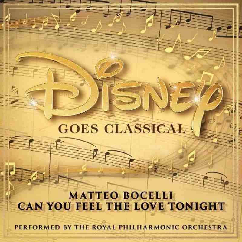 Matteo Bocelli - cover album Disney