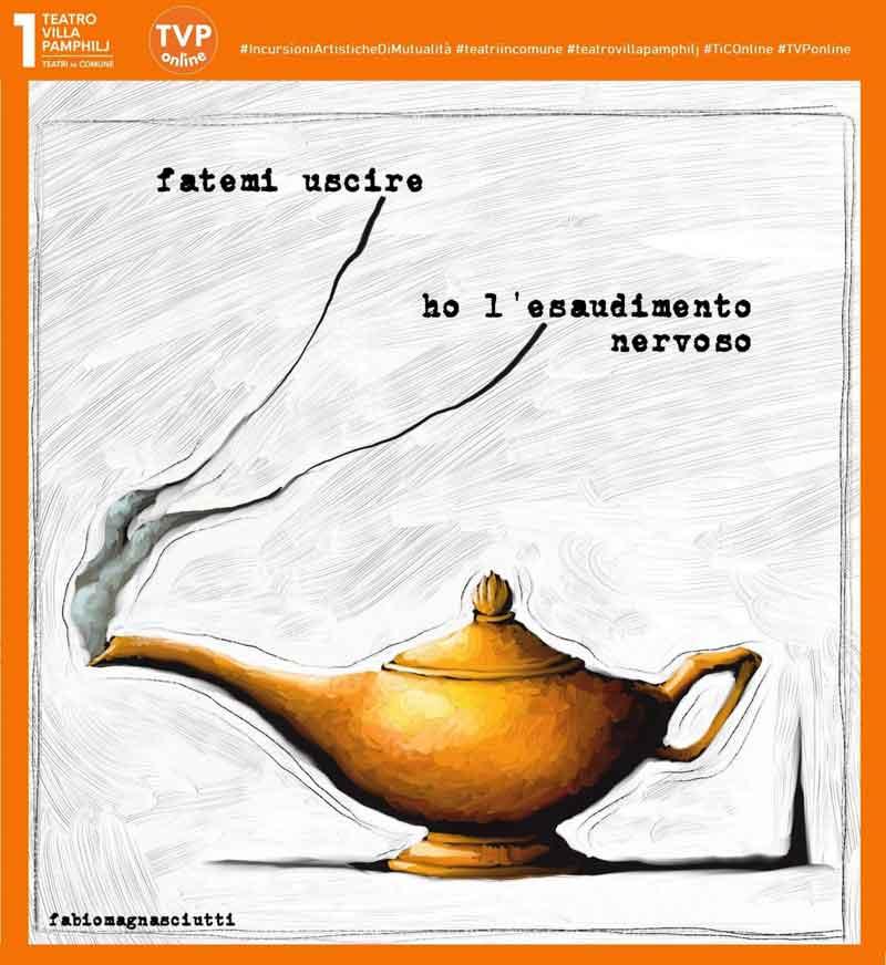 Teatro Villa Pamphilj: la vignetta di Fabio Magnasciutti