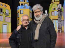 Filippo D'Alessio e il direttore artistico del Teatro Tor Bella Monica Alessandro Benvenuti