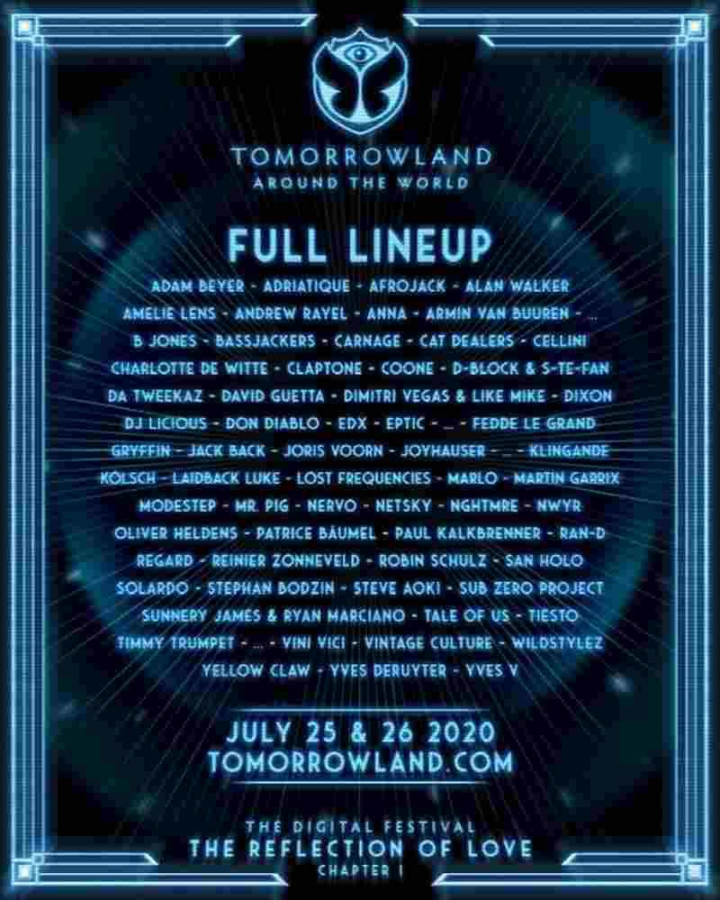 Tomorrowland 2020 - line up