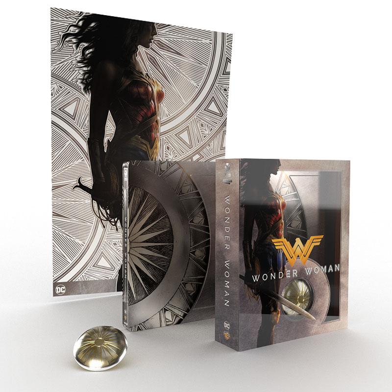 La steelbook limited edition di Wonder Woman, diretto da Patty Jenkins, con Gal Gadot e Chris Pine, conterrà 2 dischi con il film in formato 4K UHD e Blu-Ray