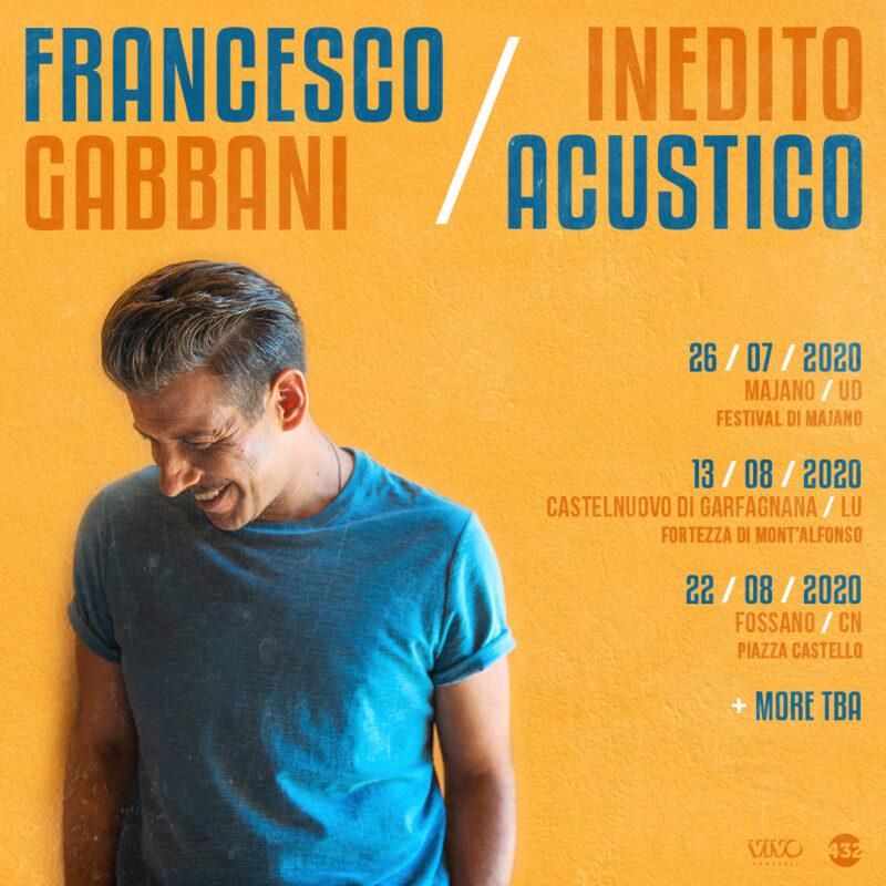 Francesco Gabbani - Inedito Acustico date tour