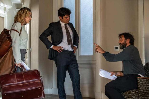 Gli infedeli - Laura Chiatti, Riccardo Scamarcio e il regista Stefano Mordini