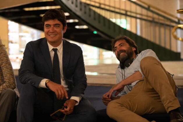 Gli infedeli - Riccardo Scamarcio e il regista Stefano Mordini