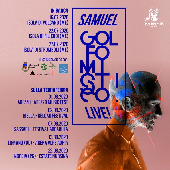 Samuel Golfo mistico live date