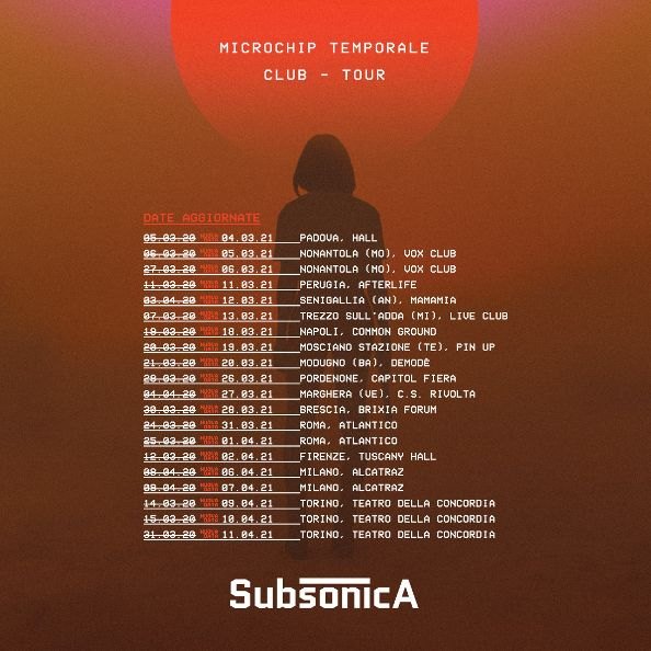 Subsonica - Date tour 2021