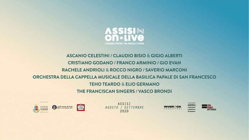 Assisi OnLive: il cartellone 2020