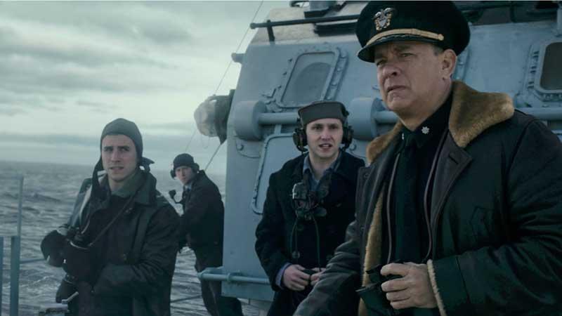 Greyhound - Il nemico invisibile: Tom Hanks in una scena del film