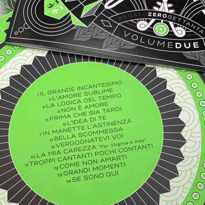 Renato Zero - Zerosettanta Volumer Due - tracklist