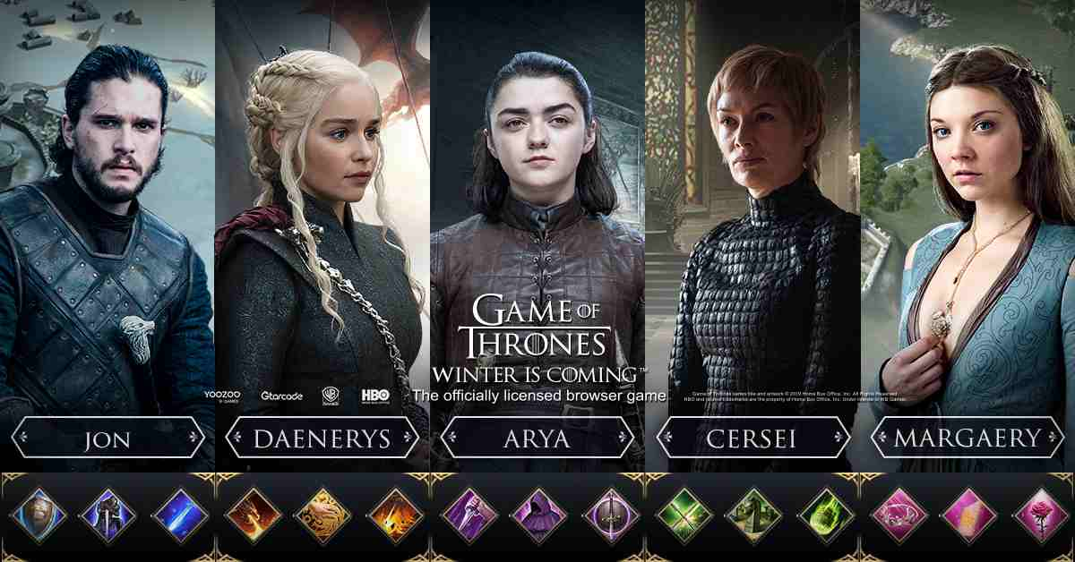 Game of Thrones - Winter Is Coming - browser game