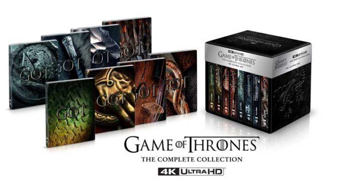 Il Trono di Spade: per la prima volta la serie tv completa in 4k Ultra HD Blu-ray