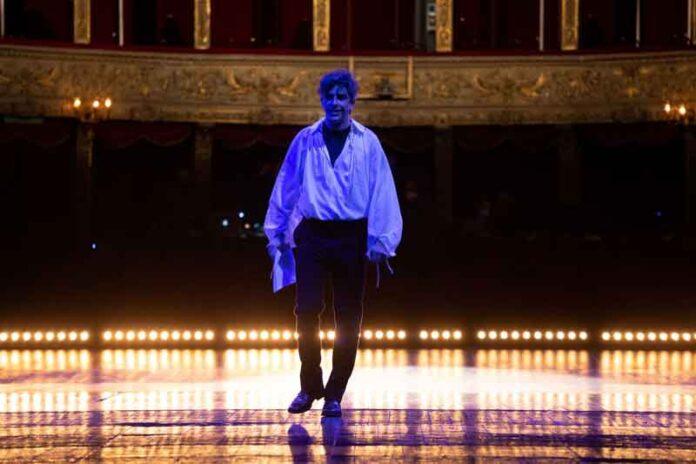 Michele Riondino sul palco del teatro Argentina ©photo Paolo Modugno