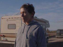 Nomadland, Frances McDormand in una scena del film