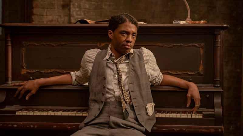 Ma Raineys Black Bottom: Chadwick Boseman in una scena del suo ultimo film