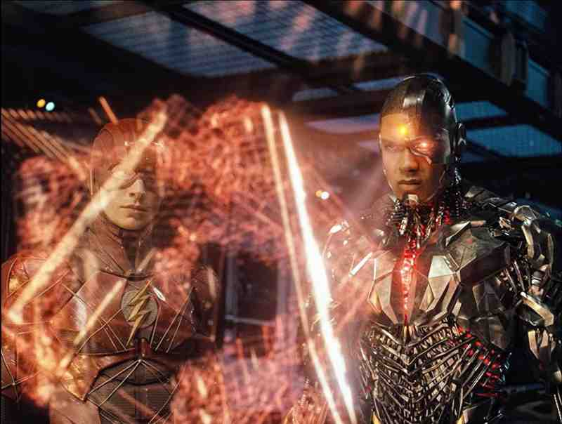 Zack Snyder's Justice League - Ezra Miller e Ray Fisher