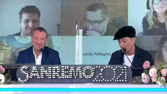 Fiorello Amadeus - Conferenza apertura Sanremo 2021