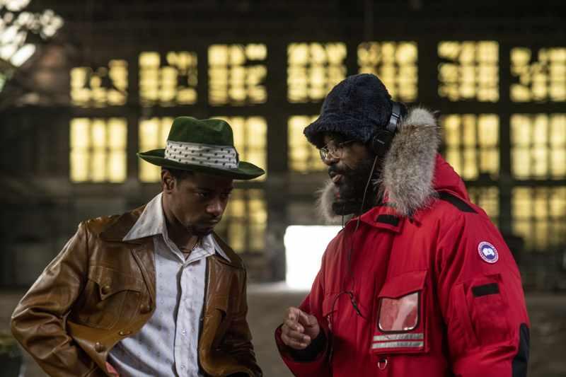 Judas and the Black Messiah - LaKeith Stanfield e Shaka King sul set (foto Glen Wilson)