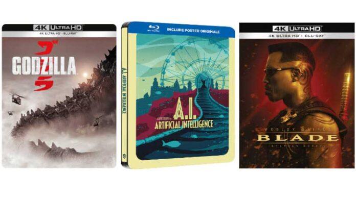 Warner home video, ad aprile Godzilla, Blade e La Famiglia Addams