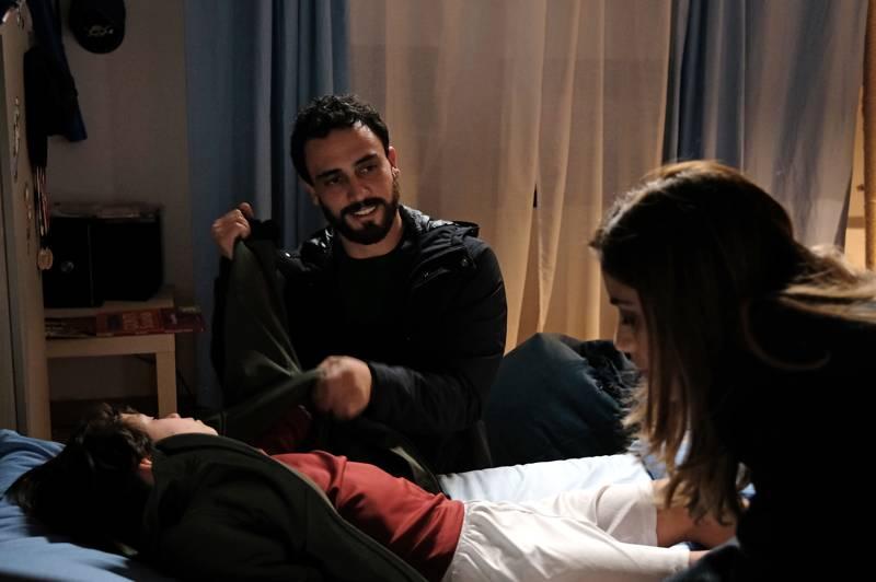 Chiamami ancora amore - Simone Liberati, Federico Ielapi e Greta Scarano (foto Fabrizio de Blasio)