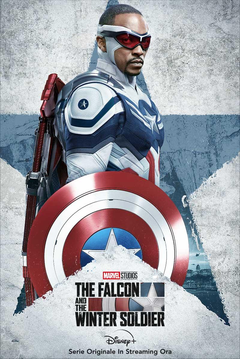 The Falcon and The Winter Soldier: il poster con Sam Wilson nei panni di Captain America