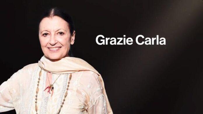 Carla Fracci - palinsesto Rai morte