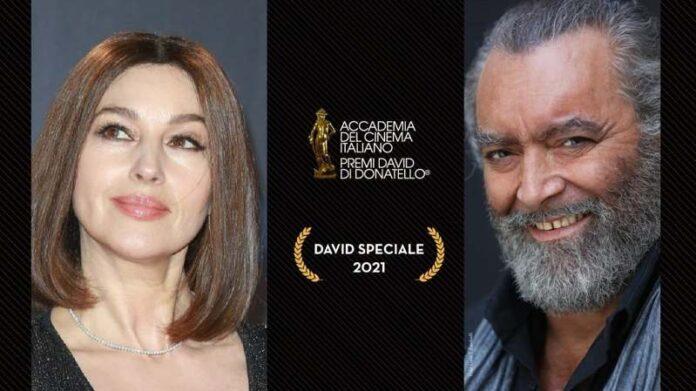 David di Donatello - David Speciale 2021 a Monica Bellucci e Diego Abatantuono