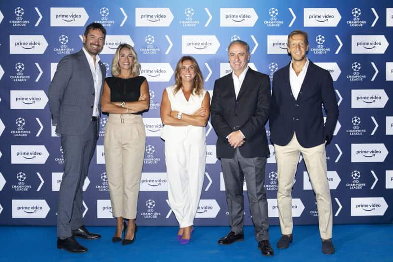 Amazon Prime Video - Squadra Champions 2021-22 - Marco Cattaneo, Giulia Mizzoni, Alessia Tarquinio, Sandro Piccinini, Massimo Ambrosini